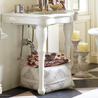 Parisian Pedestal Single Sink Console - This would be perfect in a powder room, and it will never go out of style.