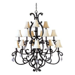 Maxim Lighting - Maxim Lighting 31007CU/CRY085 Richmond 15-Light Chandelier In Colonial Umber - Features