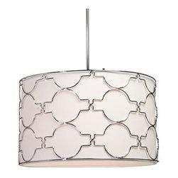 Artcraft Morocco 23-Inch-W Chrome Circular Pendant Light -