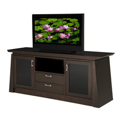 "FURNITECH - FURNITECH - MODEL ELEGANTE - 70"" Contemporary Asian TV Media Console for Flat Screen and Audio Video Installations"