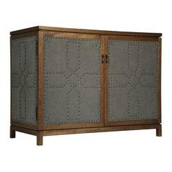 NOIR - Noir Furniture London Sideboard, Dark Walnut/Fabric - NOIR Furniture - London Sideboard, Dark Walnut/Fabric - GDRE178DW