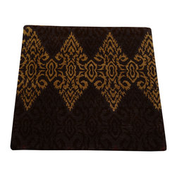 1800-Get-A-Rug - Damask Design Modern Wool and Silk Square Hand Knotted Rug Sh12290 - About Modern & Contemporary