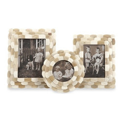 """IMAX CORPORATION - Bristow Bone Frames - Set of 3 - Bristow Bone Frames. Set of 3 frames in varying sizes measuring approximately 7-9-10""""H x 7-7-8""""W x 1.25-1.75-2.75"""" each. Shop home furnishings, decor, and accessories from Posh Urban Furnishings. Beautiful, stylish furniture and decor that will brighten your home instantly. Shop modern, traditional, vintage, and world designs."""