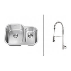 Ruvati - Ruvati RVC2546 Stainless Steel Kitchen Sink and Chrome Faucet Set - Ruvati sink and faucet combos are designed with you in mind. We have packaged one of our premium 16 gauge stainless steel sinks with one of our luxury faucets to give you the perfect combination of form and function.