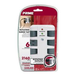 Prime Wire - Prime Wire 6-Outlet 2160J Swivel Surge Tap - 6-Outlet 2160J Swivel Surge Tap