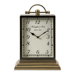 iMax - iMax Ford Oversized Desk Clock X-69006 - Assembled with precision, the Ford oversized desk clock is manufactured with European engineered quality. Using high gauge metals and superior casting, this clock features a versatile heirloom quality that blends with a variety of decor.