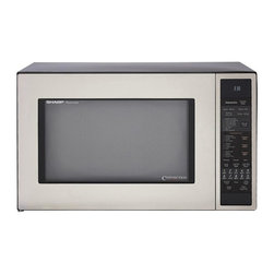 Sharp - Sharp R930CS Stainless Steel 1.5-cu-ft 900-watt Convection Microwave - Update your kitchen decor with this stainless Sharp convection microwave oven. This microwave features a large 1.5-cubic foot capacity and a large turntable for even heating with high and low racks.