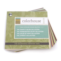 """Colorhouse 128-Color 5""""x5"""" Fan Deck - The Colorhhouse Fan Deck lets you view all 128 hues in the Earth's Color Collection, The Handcrafter Color Collection and the Color of Hope/Sprout Collections. The Earth's Color Collection of 49 harmonious, natural hues are rich backdrops for comfortable living and add a sense of depth to interior spaces. The Color of Hope is a collection of 36 clean, fresh and bold colors and the Sprout Collection is made up of 7 fresh and playful hues designed for children's spaces. The 36 hues in the Handcrafter Color Collection are modern colors designed with a richness and complexity you can feel. These harmonious hues are designed with grey undertones, creating a contemporary group of colors."""