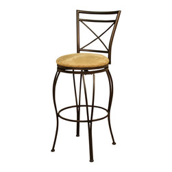 American Heritage - American Heritage Torino Stool in Topaz with Camel Microfiber - 26 Inch - The perfect stool for your new space. This simple yet functional swivel stool will compliment any decor.