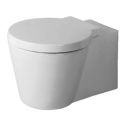 Duravit D16056001 Starck 1 Wall Mounted Toilet In White Finish -