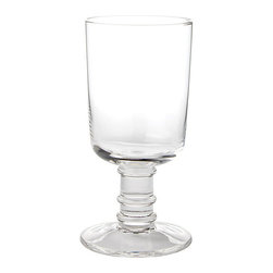 Ballard Designs - Bunny Williams Conservatory Water Glasses - Set of 4 - Coordinates with Bunny's Conservatory Wine Glasses. Dishwasher safe. Bunny designed these versatile Water Glasses with extra thick stems so they feel comfortable in your hand. The classic, clear shape dresses up or down with the occasion and works with any table setting. Bunny Williams Conservatory Water Glass features: . .