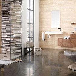 Porcelanosa - Porcelanosa Trav. Beige wall tiles / Habana Brown floor tiles