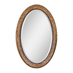 "Uttermost - Capiz Vanity Antiqued Shell Oval Mirror - Heavily antiqued capiz shell with metal rope details. Mirror has a generous 1 1/4"" bevel. Frame Dimensions: 22""W X 34""H X 1.5""D; Mirror Dimensions: 18""W X 30""H; Finish: Heavily Antiqued Capiz Shell with Metal Rope Details; Material: Particle Board, Glass, MDF, Shell, Metal; Beveled: Yes; Shape: Oval; Weight: 28 lbs; Included: Brackets, Ready to Hang; Shipping: Free Shipping via UPS 7 - 10 Business Days"