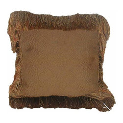 India House Brass, Inc. - Tuscany 18-Inch Square Pillow - Whether you are looking for plain or fancy, modern or traditional, our decorative pillows are just the right combination of modern function and vintage styling.  -Spot Clean Only India House Brass, Inc. - 84071