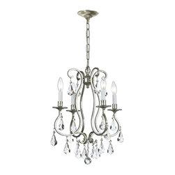 Crystorama - Ashton 4-Light Interior Mini Chandelier - Bulbs not included