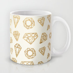 Diamonds Mug by Magic Maia - This is the mug for your understated yet posh morning cup of joe.