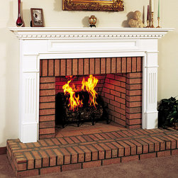 Monticello Wood Fireplace Mantel - The Monticello wood fireplace mantel is exquisite with its dental molding details and carved legs. The classic design of the Monticello will bring sophistication to your home. Available in multiple woods choices and finishes, the Monticello is fully customizable.  - Mantels Direct