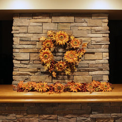Christopher Knight Home - Christopher Knight Home 60-inch Fall Sunflower Berry Garland - Bring in some warmth to any home or office space with this 60-inch fall sunflower berry garland by Christopher Knight Home. Made from premium-grade materials,this floral accent looks and feels authentic.