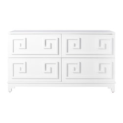 Worlds Away - Werstler White Lacquer 4 Drawer Dresser - Werstler White Lacquer 4 Drawer Dresser