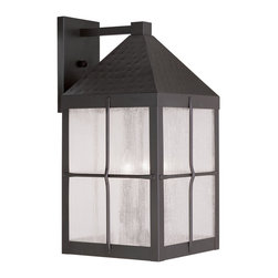Livex Lighting - Livex Lighting 2685-07 Outdoor Wall Lantern - Glass Type/Shade Type: Seeded Glass
