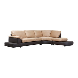 "Abbyson Living - ""Abbyson Living Cadah Microsuede Sectional Sofa with Ottoman, Mocha"" - Beautiful mocha microsuede covers the seat and back of this sectional sofa set. Both the sofa and the ottoman have a solid hardwood frame. There is faux leather on the sides and back for added durability and style. Ultra-comfort cushions are filled with the highest quality density foam. The legs are located in a zippered-pouch underneath sofaSofa dimensions: 30.5 inches high x 80 inches wide x 39 inches deepChaise dimensions: 30.5 inches high 52 inches wide x 55.5 inches deepOttoman dimensions: 15 inches high x 47 inches wide x 43 inches deepOverall dimensions: 30.5 inches high x 132 inches wide x 98.5 inches deep"