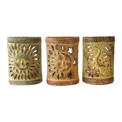 Mexican Terracotta Wall Sconces : Southwest Painted Clay Wall Sconces - Enhance any southwestern or rustic decor with these ...
