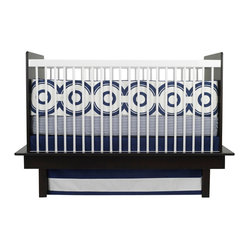 Wheels 3-piece Crib Set, Cobalt Blue