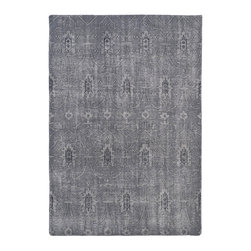 "Kaleen - Kaleen Restoration Collection Res01-75 9'X12' Grey - The Restoration collection puts the finishing touches on a classic reproduction for some of the most unique rugs in the world. Hand-knotted in India of 100% wool, each rug is intentionally distressed by hand-shearing for authenticity, over-dyed colors for beautiful style, and complete with the smallest little details for the perfect replica of a vintage antique rug.  A 100% natural ""green"" product and completely free of any latex materials."