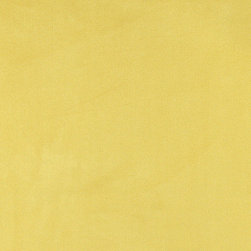 Yellow Microsuede Suede Upholstery Fabric By The Yard - Our microsuede upholstery fabric will look great on any piece of furniture. This material is easy to clean and is very durable.