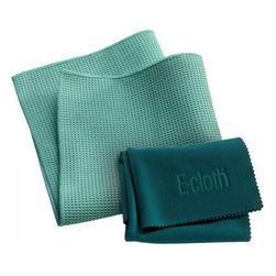 "E-cloth Window Cleaning Cloth - 2 Pack - Includes one(1)15.75""x15.75"" Window Cleaning Cloth and one (1)20""x16"" Glass and Polishing Cloth"