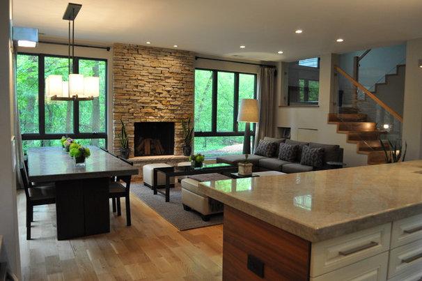 Modern Family Room by Sarah Dippold Design