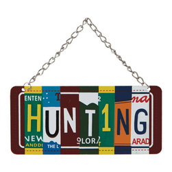 Midwest CBK - Hunting License Plate Christmas Tree Ornament - Hunter Novelty Holiday Gift - Hunting License Plate Christmas Ornament