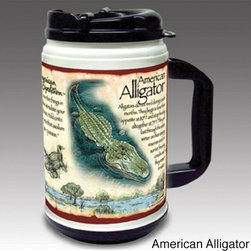 American Expedition - American Expedition Wildlife 24-ounce Thermal Mug - This plastic thermal mug from American Expedition is perfect for accompanying the modern day explorer on any outdoor adventure. A double-walled construction and spill-proof lid helps keep beverage hot or cold.