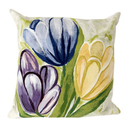 Tulips Cool Outdoor Pillow, 20