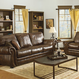 Leather Sofas for the Living Room or Family Room - Traditional Leather Sofa.....