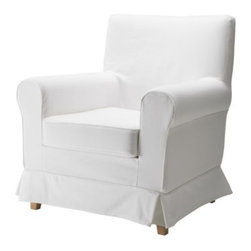 IKEA of Sweden - Ektorp Jennylund Chair, Blekinge White - The Ikea Ektrop Jennylund chair is still the best deal ever. It comes with a white slipcover that would cost more than the chair alone if you had it custom made. Use four of them in a room instead of a sofa.
