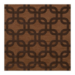 """Dalyn Rugs - Dalyn Rugs Dover DV7 Caramel Rug DV7CR12SQ - """"Luxury"""", made in the USA. Stylish, tonal, geometric and floral designs. Textural cut and loop pile. 100% premium wool."""