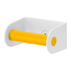 Sabi - Toilet Roll Holder, Yellow - Roll is an easy-to-install toilet paper holder that completes any Sabi Space bathroom redo.