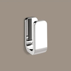 Gedy - Polished Chrome Single Robe Hook - A contemporary hook that is made in brass and finished with chrome. Part of the Outline collection by Gedy, this designer towel/robe hook will fit perfectly into more modern & contemporary bathrooms. Imported from and manufactured in Italy by Gedy. Design