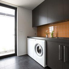 Contemporary Laundry Room by Tile Space New Zealand