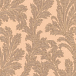 Bronze & Copper Floral Wallpaper - Give your walls a traditional look with a modern flare with wallpaper from the Regent Collection by Brewster.