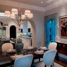 Eclectic Dining Room by Romanza Interior Design