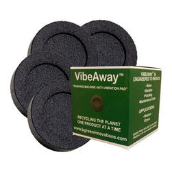 "Vibe Away - VibeAway Washer Base Pads - Placed under each corner, these ""shock absorbers"" dramatically reduce vibration and noise. Protect your floors, too. Set of 4 pads."