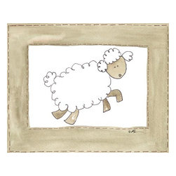Oh How Cute Kids by Serena Bowman - Vintage Sheep, Ready To Hang Canvas Kid's Wall Decor, 24 X 30 - Every kid is unique and special in their own way so why shouldn't their wall decor be so as well! With our extensive selection of canvas wall art for kids, from princesses to spaceships and cowboys to travel girls, we'll help you find that perfect piece for your special one.  Or fill the entire room with our imaginative art, every canvas is part of a coordinating series, an easy way to provide a complete and unified look for any room.