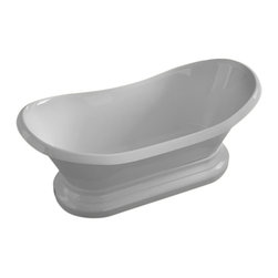 Arista - Bourdelle 34 x 71 Oval Freestanding Soaker Bathtub - Tub  with Center Drain - DESCRIPTION