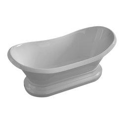 Arista - Bourdelle 34 x 71 Oval Freestanding Soaker Bathtub - Tub  with Center Drain - DESCRIPTION