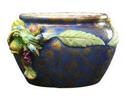 EuroLux Home - New Italian Majolica Ceramic Bowl Blue - Product Details