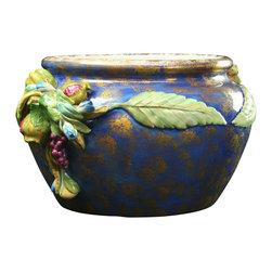 EuroLux Home - New Italian Majolica Ceramic Bowl Blue - Product Details