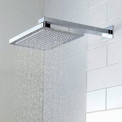 Hudson Reed - Hudson Reed Rectangular 8 x 12 Fixed Shower Head 3/4 Thick - Shower in style and luxury with the Hudson Reed 8x12 rectangular fixed shower head. This high quality shower head is perfect for adding designer style to your bathroom. Hudson Reed Rectangular Fixed Head Details   8 x 12 (200mm x 300mm) 3/4 depth gpm: 2.5 gpm (9.5 l/min) max Please note: a shower arm is not supplied