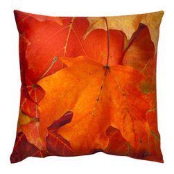 Lava - Fall 16 x 16 Decorative Pillow (Indoor/Outdoor) - 100% polyester cover and fill. Suitable for use indoors or out. Made in USA. Spot clean only